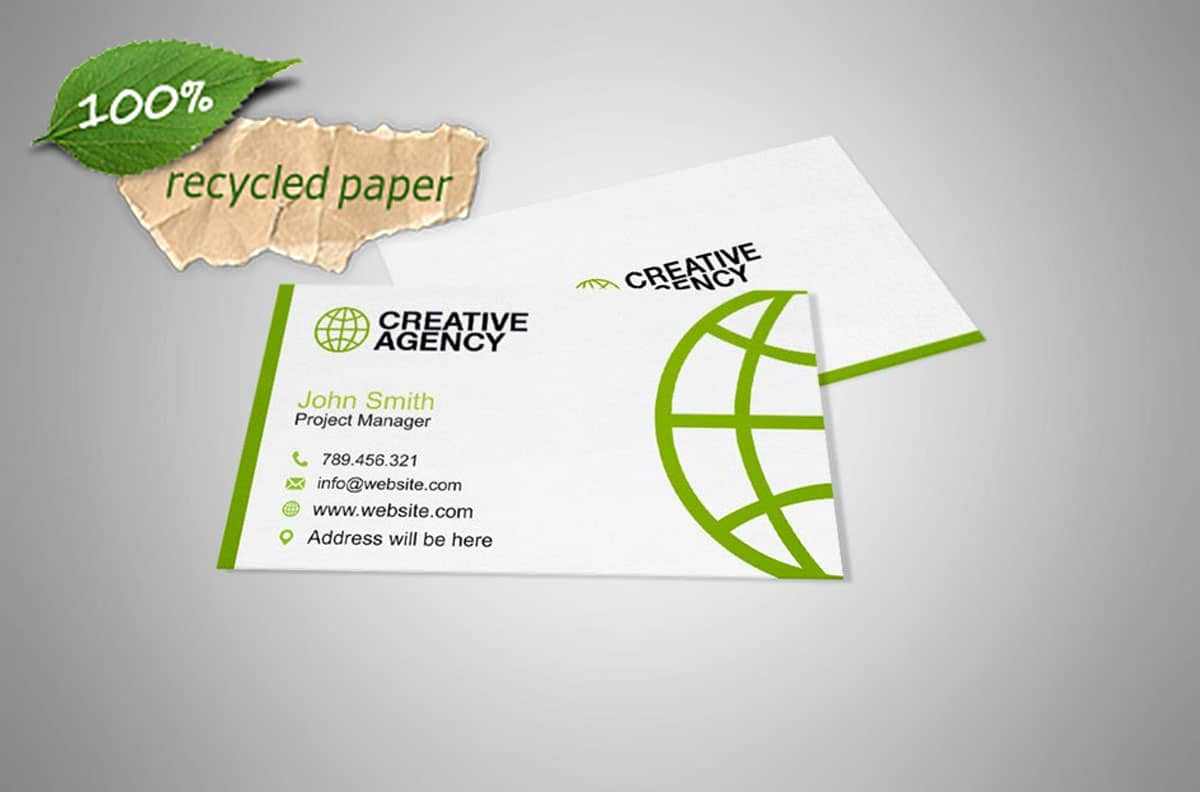 Creative business cards toronto lumos digital web design environmental business cards reheart Image collections